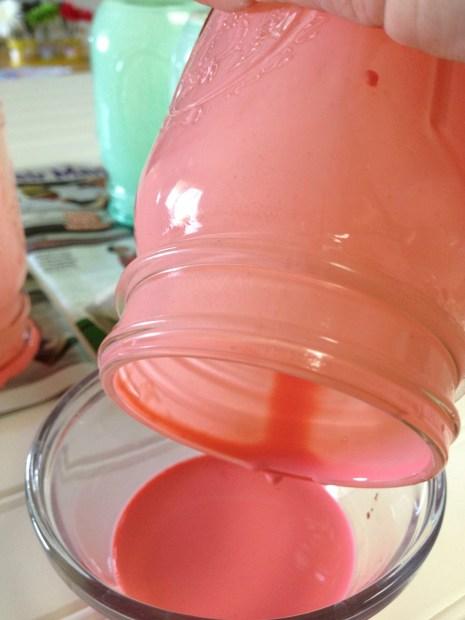 tinting mason jars