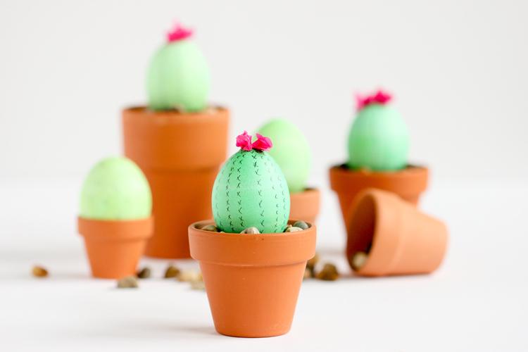 Cute Cactus Easter Eggs
