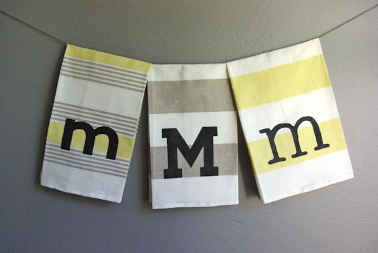 Monogram Tea Towels