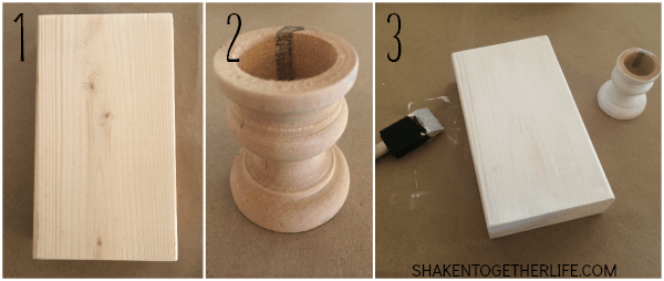 How to Make a Striped Wood Block Display - steps 1 through 3