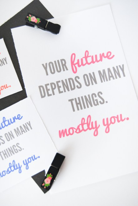your future depends on many things printable