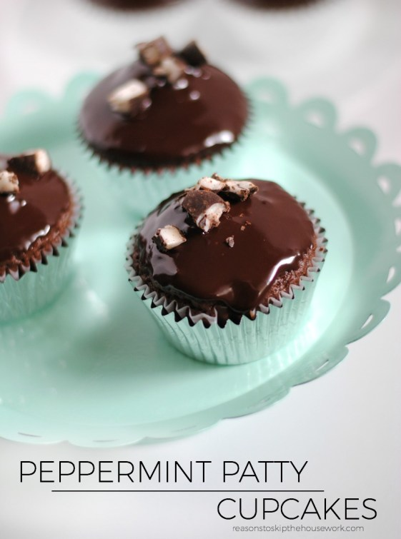peppermint patty cupcakes
