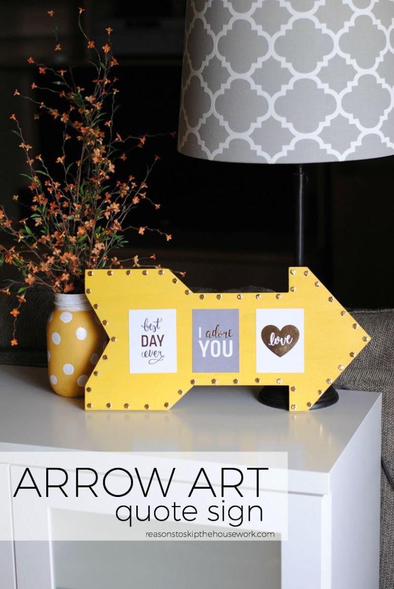 Arrow Art Quote Sign