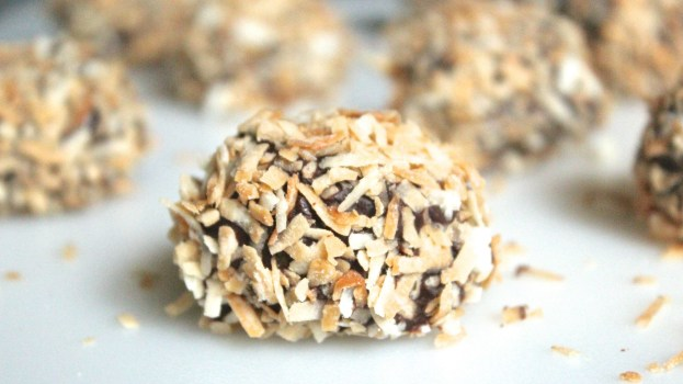 """alt=""""A Samoa Truffle in the foreground, faded ones in the background"""""""