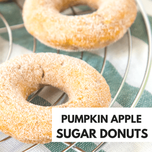 PUMPKIN APPLE SUGAR DONUTS