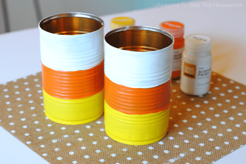 Candy Corn Treat Cans