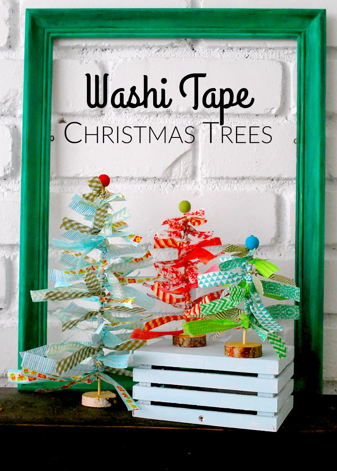 washi tape christmas trees by the silly pearl for reasons to skip the housework - The Christmas Pearl