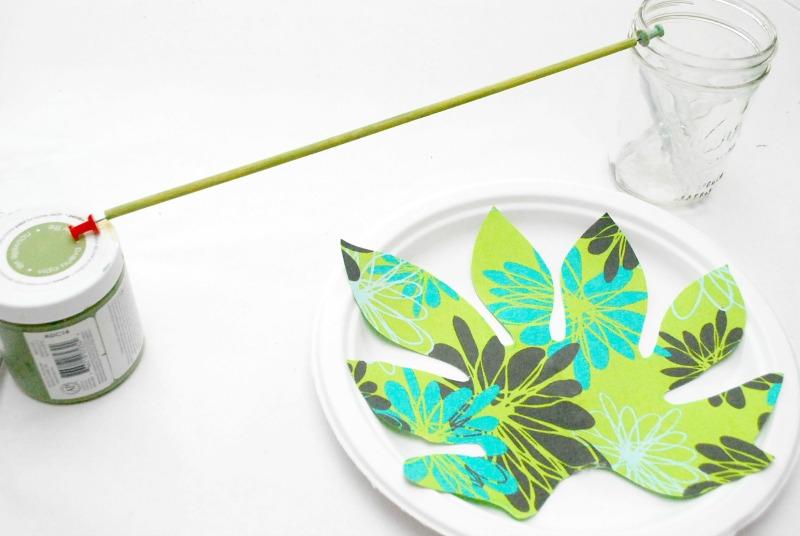 No Sew Fabric Palm Leaf 5