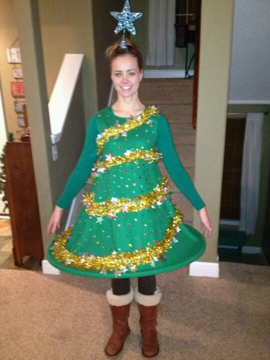 Tree Dress: If you are attending an ugly Christmas sweater party this year, we have got you covered! Here are 25 Ugly Christmas Sweater Ideas for you to use as inspiration.