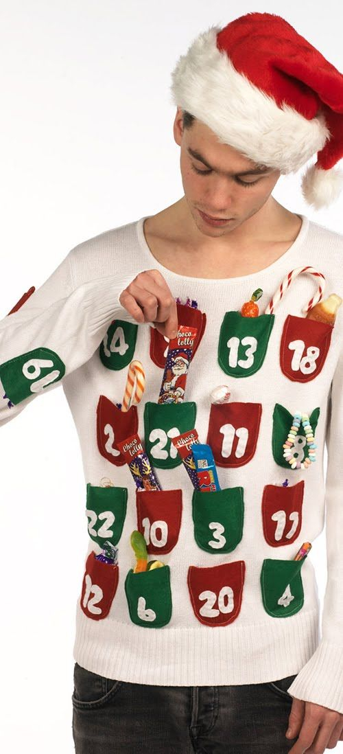 advent calendar sweater if you are attending an ugly christmas sweater party this year