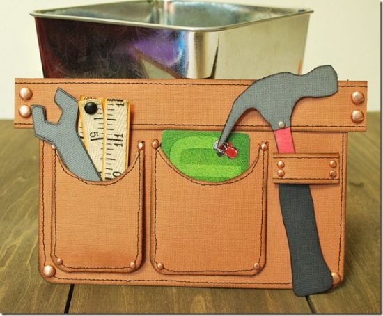 Tool Belt: Gift Cards can sometimes be a boring thing to give but a great thing to receive. So why not spice up the way you give them!