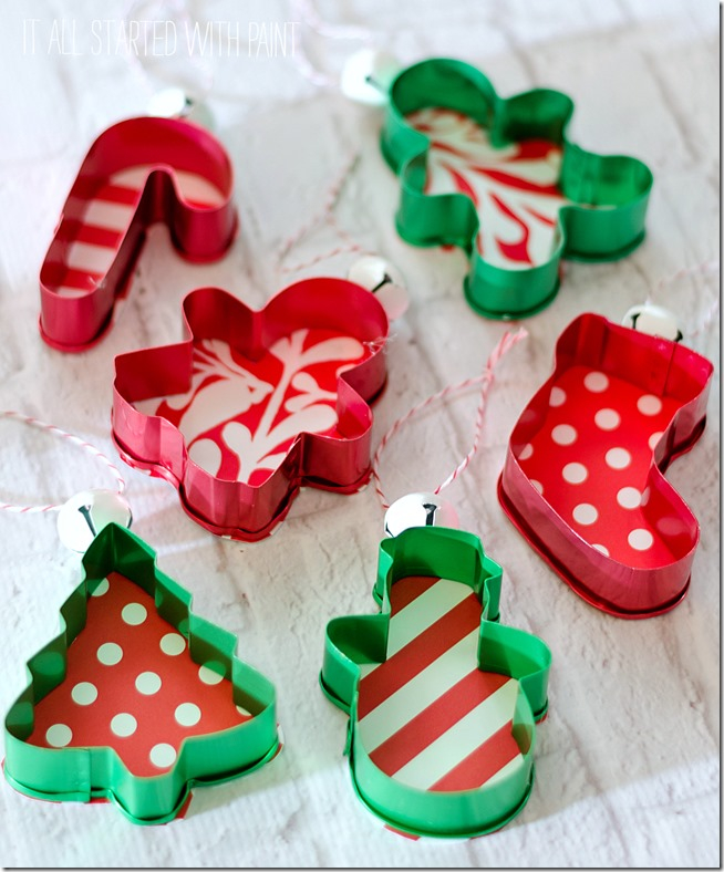 Cookie Cutter Ornaments: These creative handmade ornaments will add a special touch to your Christmas tree this season!