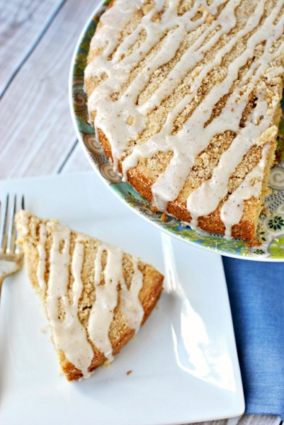 Eggnog Coffee Cake: Eggnog is a favorite seasonal drink, but there are so many ways to bake with eggnog!