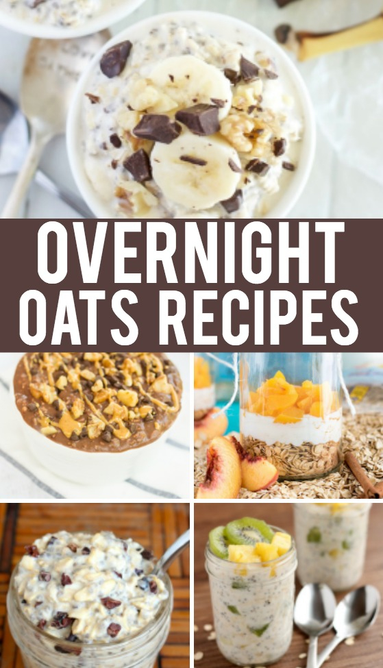 Overnight Oats Recipes that are easy and delicious. They're perfect for a busy morning!