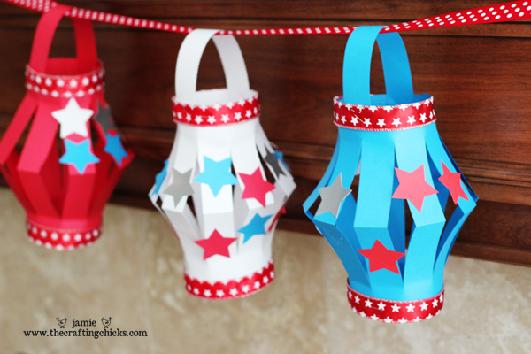 Fourth of July Crafts for Kids: Paper Lanterns