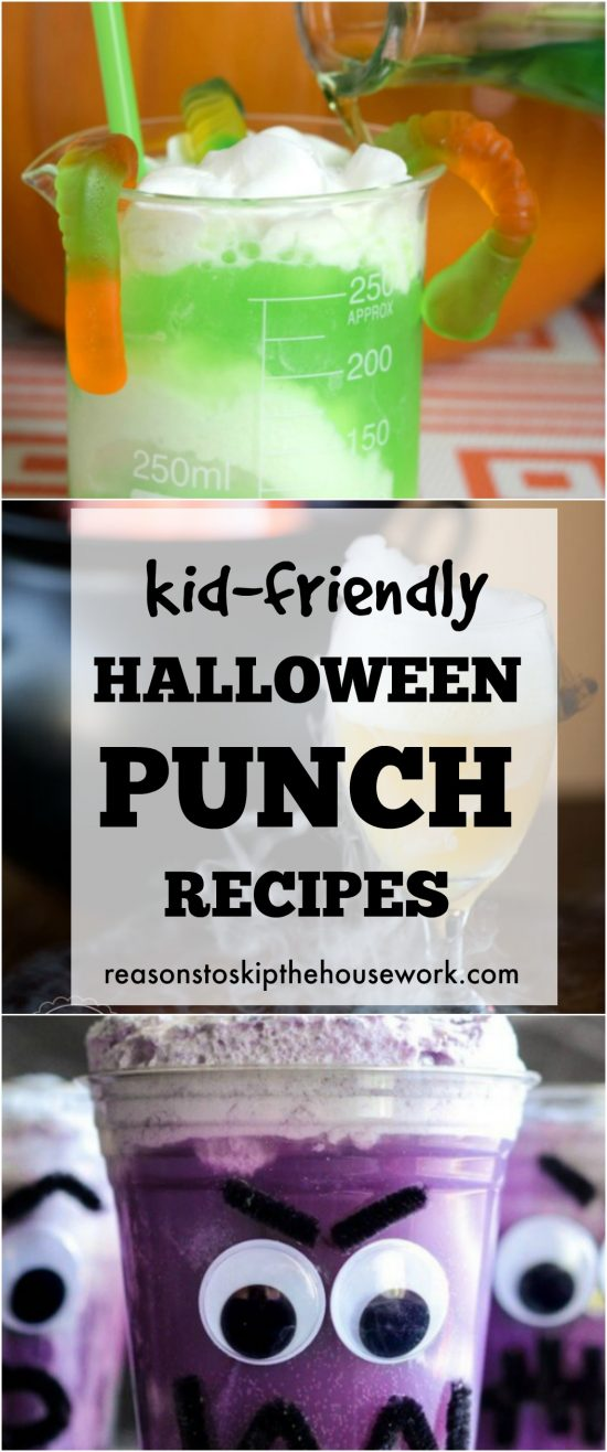 Kid-Friendly Halloween Punch Recipes that are perfect for any party and easy to add alcohol to if needed!