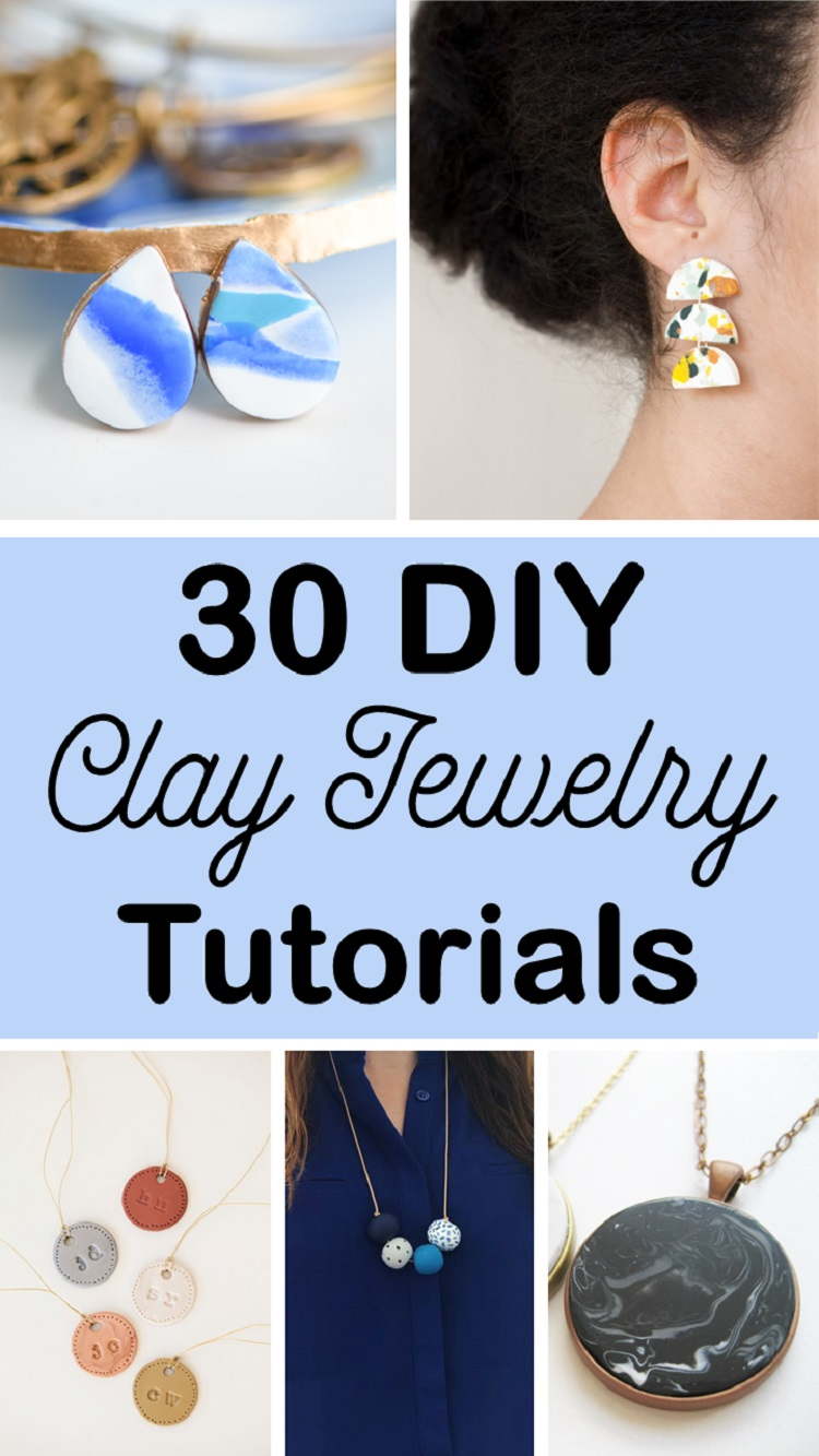 30 diy clay jewelry tutorials who doesnt love getting their hands messy with clay we love this material for its versatility affordability and ease to use but did you know its also aloadofball Image collections