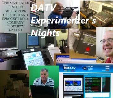 Collage of DATV Experimeter's Nights