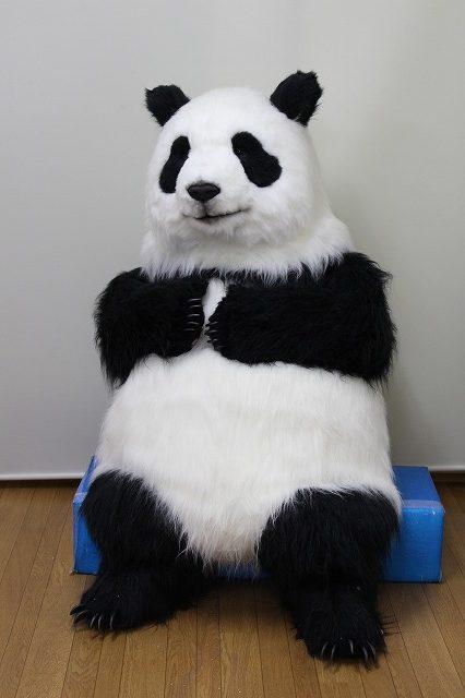 リアルなパンダ座り姿