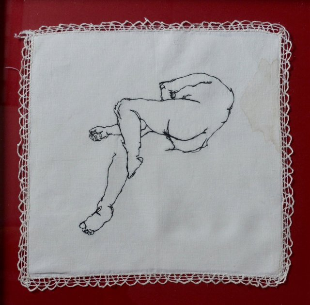 Rebecca Harris life drawing embroidery