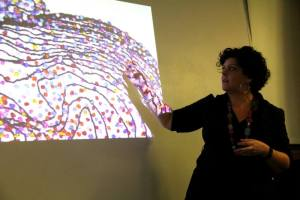 Rebecca Harris artist talk at Eden Project