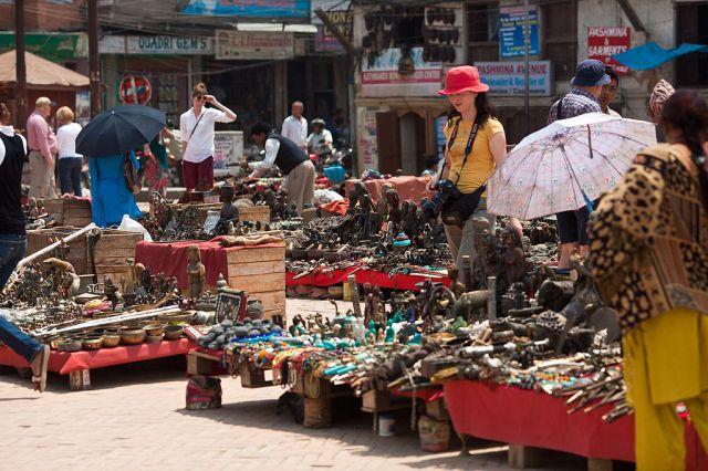 Basantapur Street market in Kathmandu