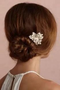 2015 Wedding Trends - Simple low bun wedding hairstyle from Rebecca Loves Weddings www.rebeccaanderton.co.uk