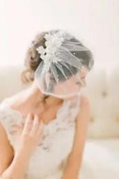 2015 Wedding Trends - Polka dot birdcage veil from Rebecca Loves Weddings www.rebeccaanderton.co.uk