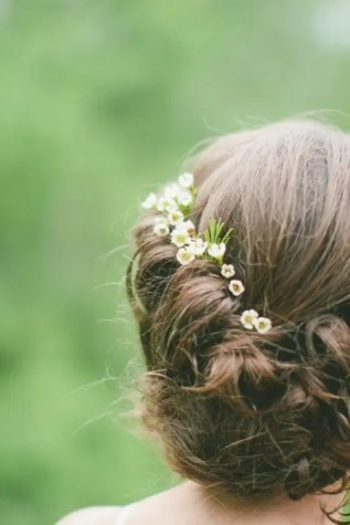 2015 Wedding Trends - Romantic flowers in wedding hairstyle, inspiration from Rebecca Loves Weddings www.rebeccaanderton.co.uk