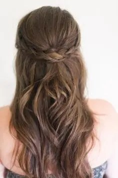 Prom Hair and Makeup Inspiration - Half up braided prom hair from Rebecca Loves Weddings www.rebeccaanderton.co.uk