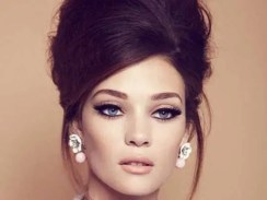 Sixties Wedding Style File - Hair and make up inspiration from Rebecca Loves Weddings www.rebeccaanderton.co.uk