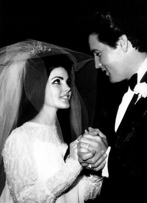 Sixties Wedding Style File - Priscilla and Elvis Presley wedding from Rebecca Loves Weddings www.rebeccaanderton.co.uk