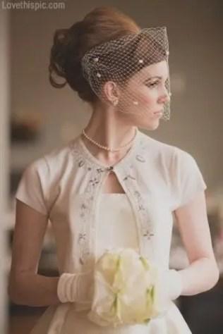 Sixties Wedding Style File - Retro cardigan wedding dress from Rebecca Loves Weddings www.rebeccaanderton.co.uk