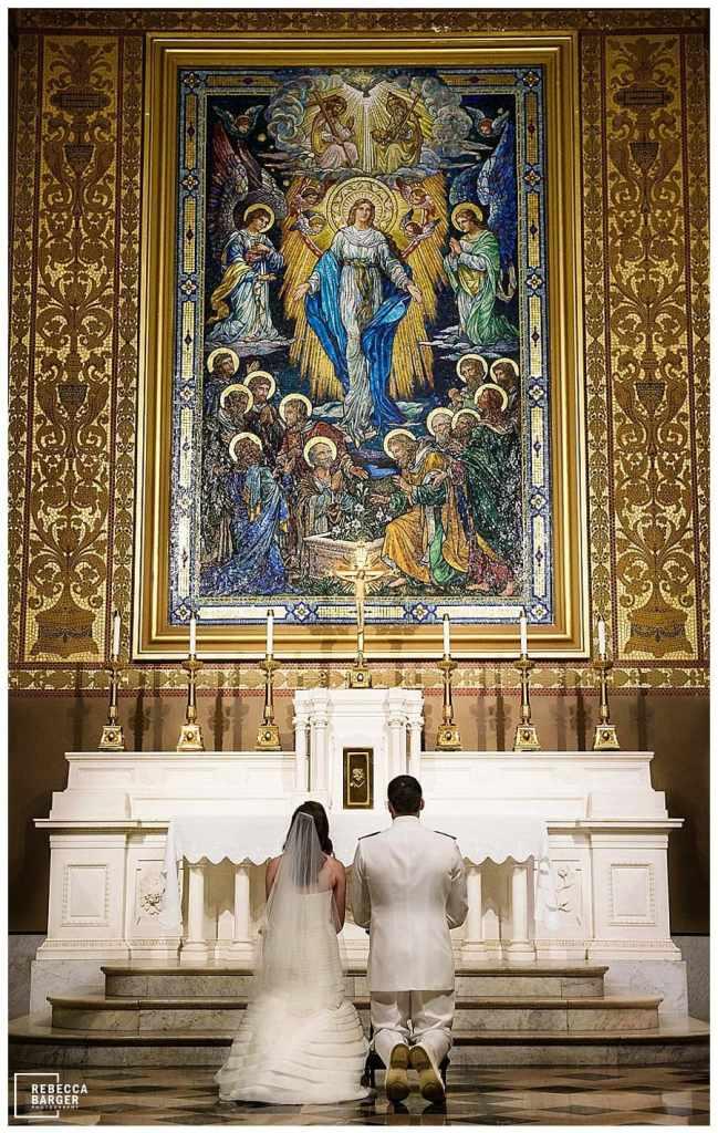 Catholic service presentation to Mary, Basilica