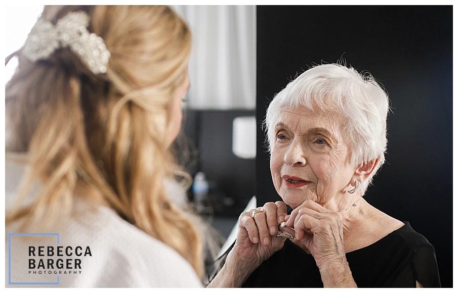 bride's sweet grandmother
