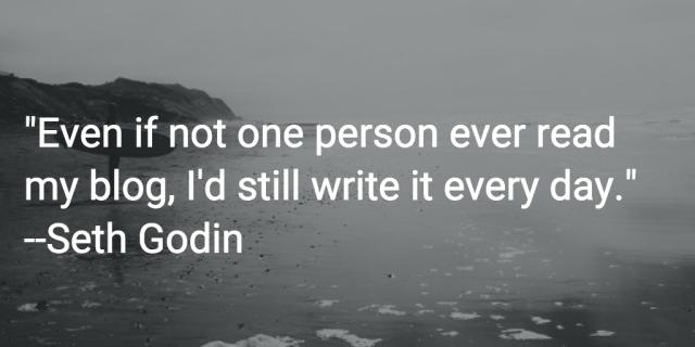 seth godin quote blogging
