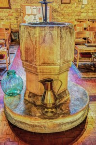 Font in St. Nicholas, Mowsley