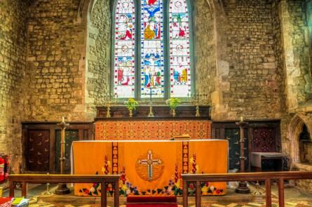 The altar at St. Nicholas