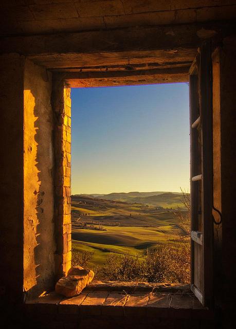 Sunset Window, Tuscany, Italy