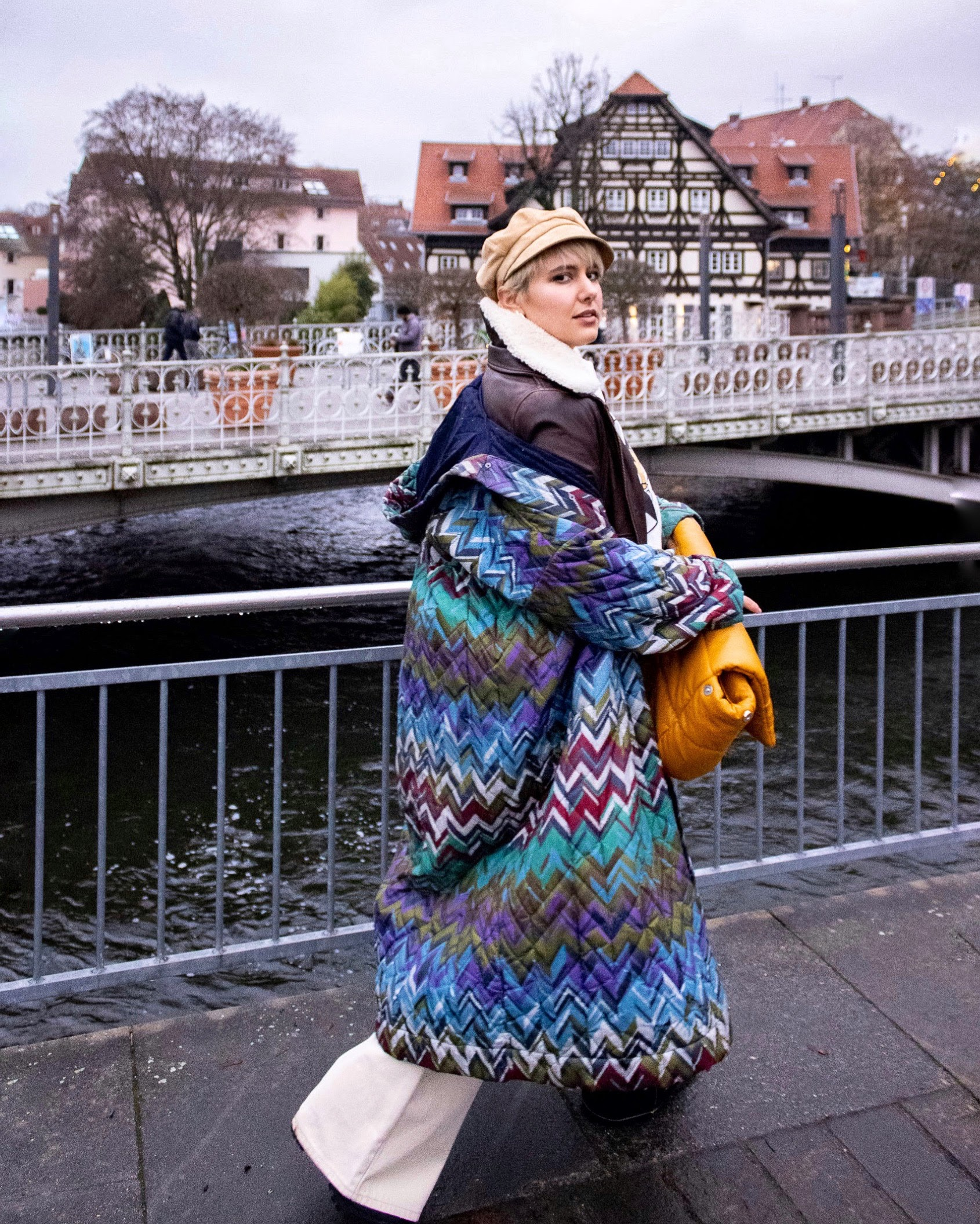 Statement Outerwear Outfit Challenge: Quilted Coats @RebeccaInEurope