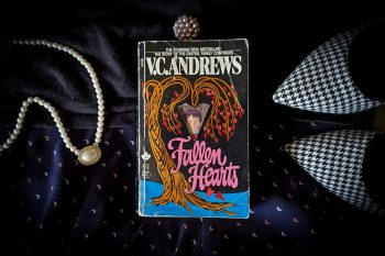 Flatlay image of FALLEN HEARTS by V.C. Andrews.