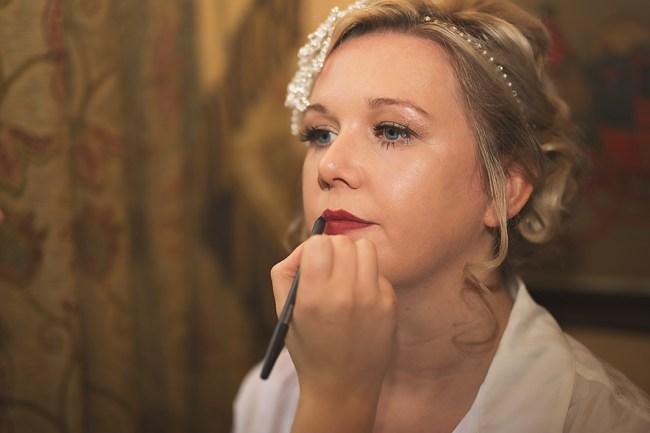 bridal makeup dark lip