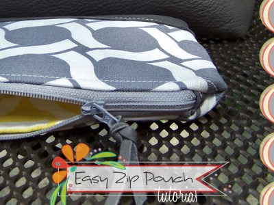 zipper pouch tutorial