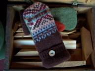 Wool mittens