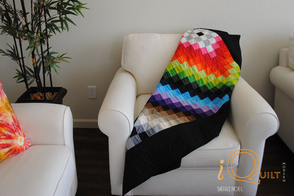 amish sunshine and shadow bars quilt