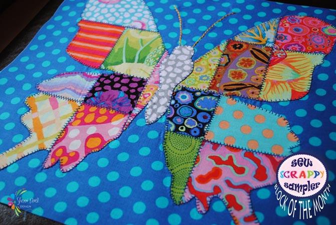 Modern Quilt Block in Kaffe Fassett Fabrics