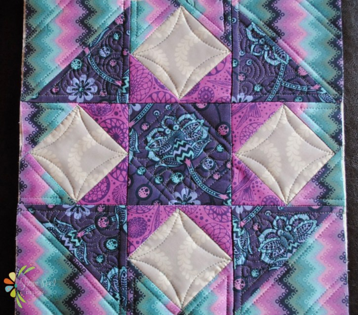 quilt block of the month in tula pink fabric