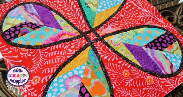 block of the month quilt in kaffe fassett fabric