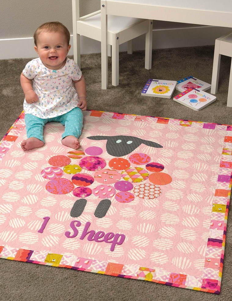 One Sheep Quilt Pattern from Text It quilt book by Sherri Noel rebeccamaedesigns.com