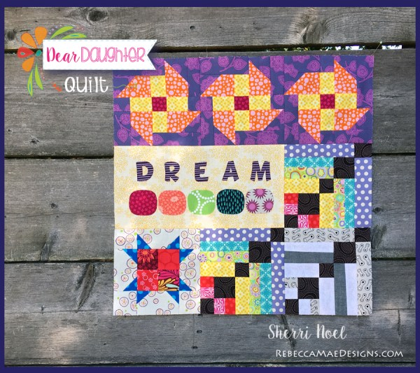 DEAR DAUGHTER BLOCK OF THE MONTH TEXT QUILT PATTERN